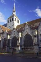 a igreja gótica de st.croix em provins foto