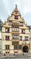 casa medieval maison des tetes na cidade de colmar
