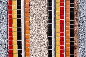 fragmento de mosaico de parede foto