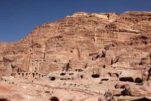 capital petra nabataeans (al khazneh), jordan foto