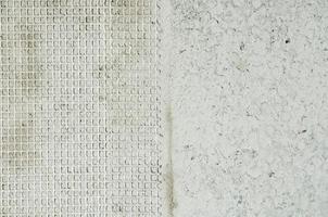 dois tipos de textura de parede. foto