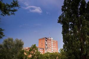 nuvens de tempestade. etxebarri. vizcaya. país Basco. Espanha. Europa foto