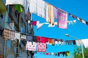 roupas de secagem típicas, georgia