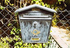 caixa postal de metal foto