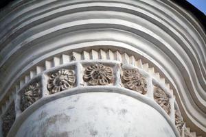 detalhe do chernihiv collegium com decoração floral foto