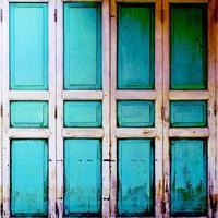 porta de madeira estilo retro vintage foto