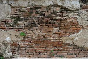 fundo de parede de tijolo vintage de concreto rachado