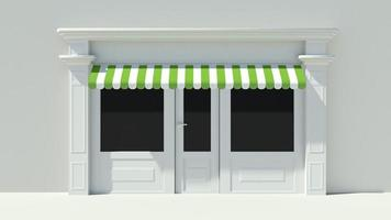 fachada ensolarada com janelas grandes, fachada branca