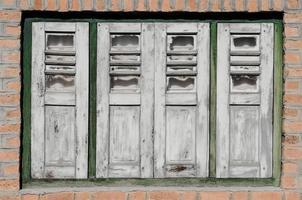 janela de madeira abstrata. foto