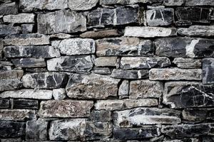 parede de pedras como uma textura foto