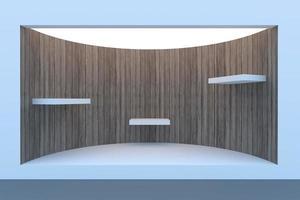 loja ou pódio de círculo vazio com iluminação foto