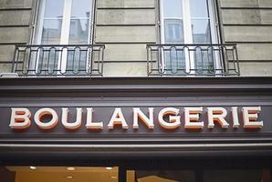 placa de boulangerie na rua francesa