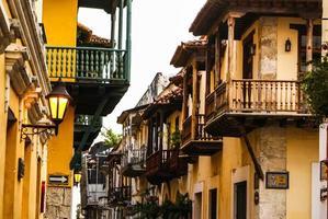 casa colonial espanhola. cartagena das índias, caribea da colômbia foto