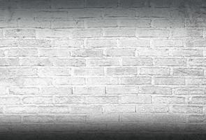 fundo de parede de tijolo branco foto