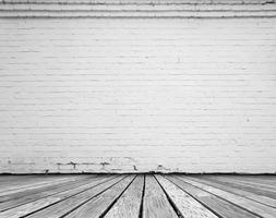 quarto com tijolo branco foto