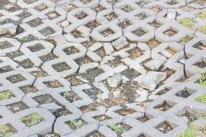 superfície de um tijolo de cimento quebrado