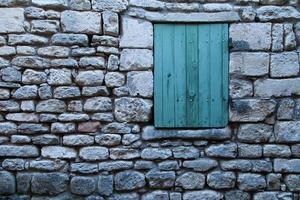 mur en pierre foto