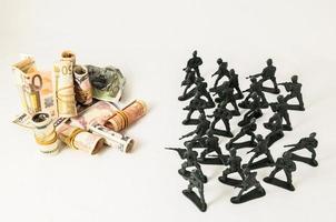 soldados de chumbo de plástico foto