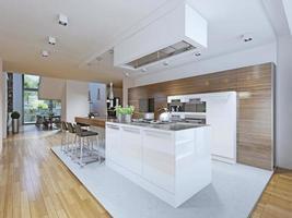 cozinha luminosa de estilo vanguardista foto