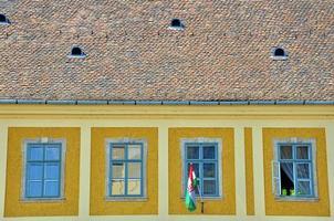 telhado e janelas