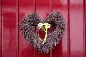 decoração da porta do coração foto