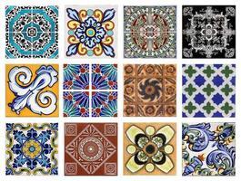 valencia azulejos texturas diferentes foto
