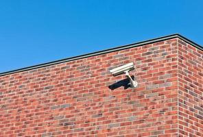 câmera de vigilância branca foto