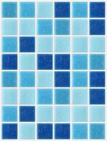 azulejo mosaico quadrado textura azul fundo decorado com glitter foto