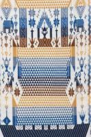 Superfície de tapete peruano de estilo cutton de artesanato tailandês colorido close-up foto