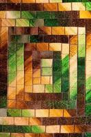 fundo de mosaico de vidro abstrato verde tom marrom foto