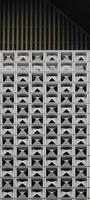estrutura periódica de células quadradas foto