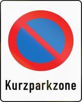 zona de estacionamento de curta duração na áustria foto