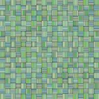 pano de fundo mosaico de azulejos verdes listrados em xadrez foto