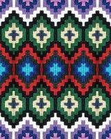 cinto de tiras de lã com desenhos coloridos