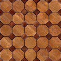 textura de madeira em mosaico escuro e claro foto