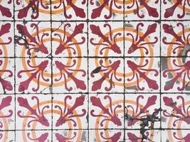 azulejos antigos chino portugueses. foto
