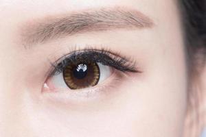 olho de mulher bonita foto