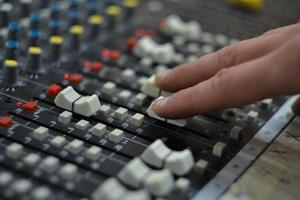 console de mixagem foto