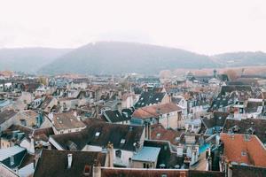 telhados de apartamentos e edifícios