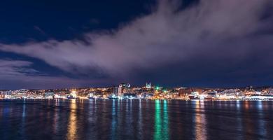horizonte do rio da cidade foto
