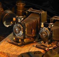natureza morta com câmeras nostálgicas
