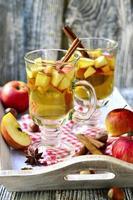 cidra quente de maçã. foto