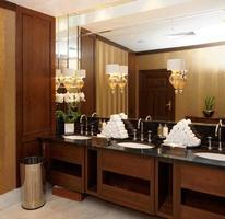 banheiro no hotel ou restaurante foto