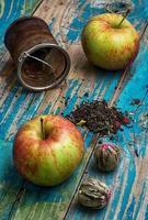 xícara de chá de maçã foto