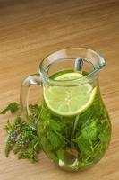 chá de menta caseiro fresco. foto