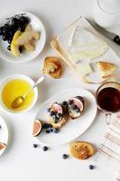 composição do café da manhã foto