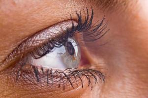 close-up de um lindo olho foto