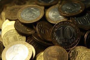 moedas rublos de aniversário foto