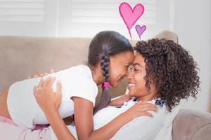 imagem composta de corações de amor de dia dos namorados foto
