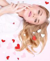 linda mulher romântica foto